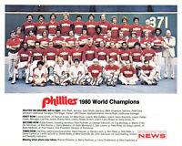 MLB 1980 Color Team Picture Philadelphia Phillies World Champions 8 X 10 Photo