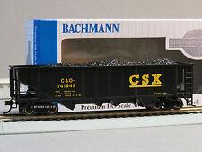 BACHMANN HO GAUGE 40' CSX QUAD HOPPER SILVER SERIES train freight car 17618 NEW