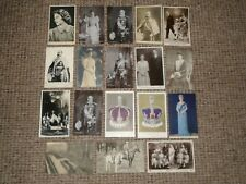1904 to 1930s Eighteen Real Photo+Printed Postcards Of British Royalty