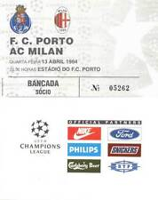F.C. PORTO AC MILAN CHAMPIONS LEAGUE 13/04/1994 USATO