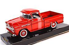 Chevrolet apache fleetside pickup 1958 motormax 79311 1:24 neuf diecast rouge