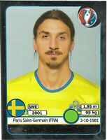 PANINI EURO 2016 ZLATAN IBRAHIMOVIC SWISS SILVER FOIL STICKER NO 567