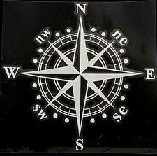 Autoaufkleber Kompass, Wandtatoo, Sticker, Tatoo, Aufkleber silber