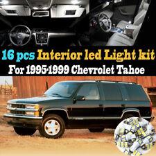 16Pcs 6000k White Interior LED Light Bulb Kit Package for 1995-1999 Chevy Tahoe