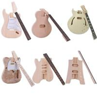 Unfinished Electric Guitar DIY Kit TL ST Children LP Style Builder Xmas Gift New