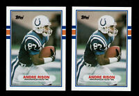 1989 TOPPS TRADED #102 ANDRE RISON ROOKIE 2 CARD  LOT FOOTBALL COLTS  RC
