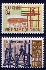 VIETNAM, SOUTH Sc#377-8 1970 Reconstruction after 1968 Tet Offensive MNH
