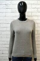Maglione Donna BLAUER Taglia S Felpa Cardigan Pullover Woman Lana Grigio