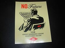 """SHEPARD FAIREY Obey Giant Sticker 4X5.25"""" NO FUTURE from poster print"""