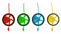 6 Pull Wheel Spinners - Pinata Toy Loot/Party Bag Fillers Wedding/Kids