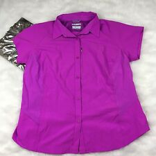 Columbia Purple Omni Shade Outdoors Button Up Short Sleeve Shirt Size 1X NWOT