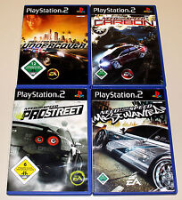 4 PS2 SPIELE BUNDLE - NEED FOR SPEED - UNDERCOVER MOST WANTED CARBON PRO STREET