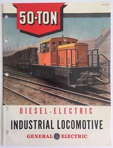 1944 General Electric Diesel & Electric Locomotive Engines Advertising Brochure