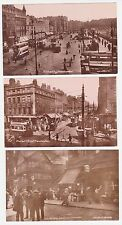Antique Real Photo RPPC WW1 Piccadilly Manchester Market St. UK. lot of 3