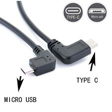 90 angle Type C (USB-C) to Micro USB Sync Charger OTG CHARGER Cable Adapter yb