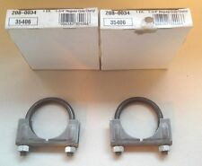PAIR (2) Exhaust 1 3/4 Clamps 35406 Muffler Exhaust U Clamps 1.75