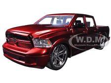 2014 DODGE RAM 1500 CUSTOM EDITION RED 1/24 DIECAST MODEL CAR BY JADA 54040