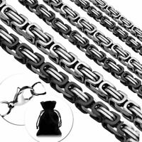 Halskette Königskette 55cm Mit Armband Set Panzerkette Edelstahlkette Herren