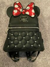 Disney Loungefly Leather Mini Minnie Mouse Backpack