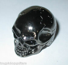 Potiknopf Jumbo Skull Totenkopf  Q-parts Metall schwarz Knopf  6,00 & 6,3 mm