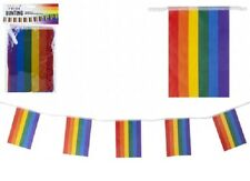 8 Flags Bunting Rainbow Flag 12ft Rainbows Gay Banner Window Garden