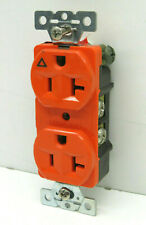 (4-Pack) Arrow Hart Isolated Ground Receptacle Outlet 20A 125V 20-Amp Orange