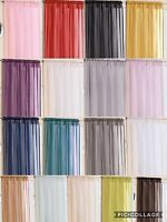 Plain Crystal Voile Panels For Window or Door,Suitable For Rod/Wire 17 Colours