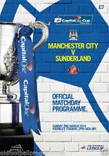 Away Teams Manchester City Final Football League Cup Fixture Programmes