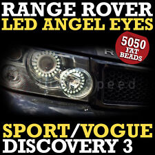 Range Rover LED Headlight Rings DRL Angel Eye Conversion Rings CCFL 21 smd Halo