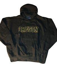 University Oregon Ducks UO Men's Oldvarsity Grey Pullover Hooded Sweatshirt XL