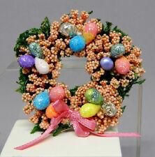 Glitter Easter Egg Wreath Centerpiece Artisan Dollhouse Miniature 1:12