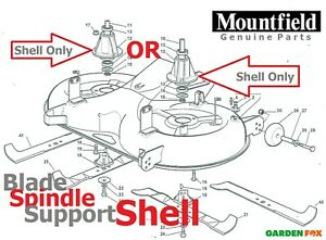 Genuine Mountfield 16-102H 102cm - Blade Spindle Support SHELL - CG1220BSS