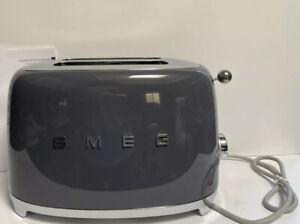 Smeg '50s Retro Style Two-Slice Toaster, Slate Gray