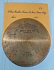"""Vtg . Regina Music Disc . 15 1/2"""" . # 1837 - """"When Rueben Comes To Town"""""""