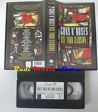 VHS GUNS N' ROSES Use your illusion Tour tokyo 1992 GEFFEN 902 MIN cd lp (VM3*)