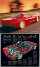 1998 1999 C5 Corvette Dealer Advertising Poster 2 sided Cut-a-Way Promo part Z06