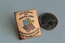 NYC 9/11 Ground Zero Ride '09 H-D Motorcycle Fund Raiser - 8th Annual Event Pin
