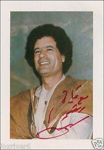 COLONEL MUAMMAR GADDAFI Signed Photograph - Ex-Politician Libya Leader preprint