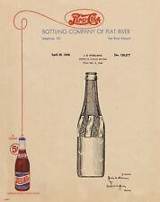 Pepsi Cola Bottle 1940 Patent Art Print Vintage Letterhead Collector PAT499