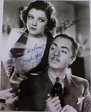 "Myrna Loyd & William Powell ""Thinman"" autographed 8x10 photo RP"