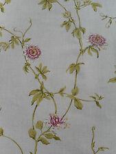 Sanderson Curtain Fabric 'Passion Flower' 3.3 METRES Linen/Cerise - Linen Blend
