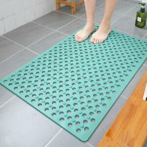 Non Slip Shower Tub Floor Bubble Mat Bathroom Rubber Suction Cup Grip Mat PVC