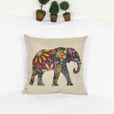 Elephant Cotton Throw Waist Pillow Case Cushion Cover Sofa Home Car Decor
