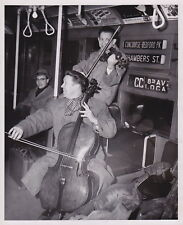 Musicians Playing on the Nyc Subway Train * Vintage Iconic c.1960s Music photo