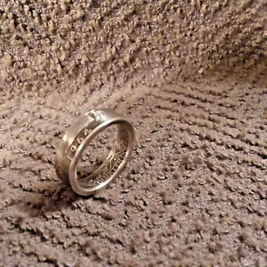1964 90% silver  Washington Quarters, coin ring, size 8