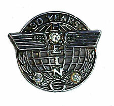 Boeing 30 Service Gold K Pin Airliner Mechanic Engineer Employee Pilot Crew BA G