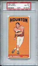 1965 Topps #71 Ode Burrell PSA 8 NM-MT Houston Oilers