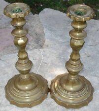 -Bougeoirs Paire de Flambeaux style Louis XIV en Bronze