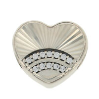 NEW Authentic Pandora Fan of Love Charm Sterling Clear CZs Heart 797288CZ Retd