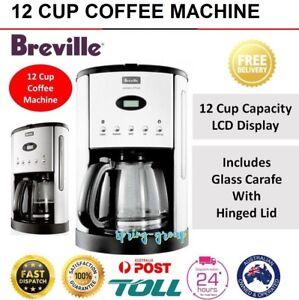 Breville Coffee Machine Maker Drip Filter Dripolator Stainless Steel Glass Jug